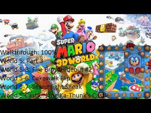 Super Mario 3D World - 100% - Walkthrough - World 5 Part 3