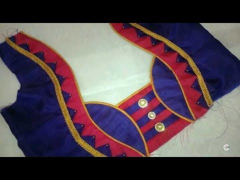 Latest Back Neck Blouse Designs for Festivals | Easy to Stitch New Model Blouses