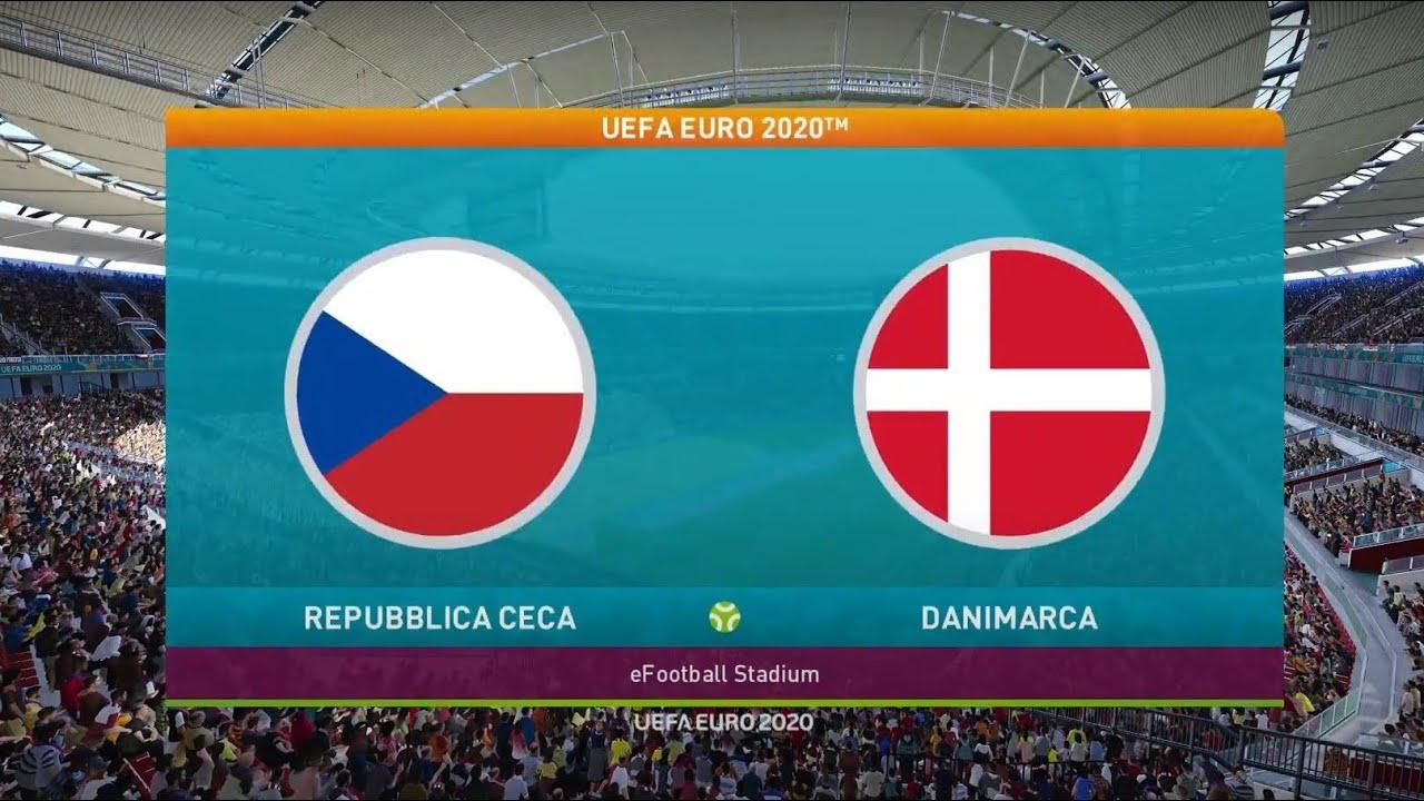 Repubblica Ceca vs Danimarca - Uefa Euro 2020 - Pronostico PES 2021 - Czech  Republic vs Denmark - YouTube