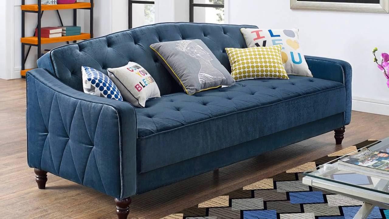Vintage inspired sleeper sofa for Sofa cama sodimac