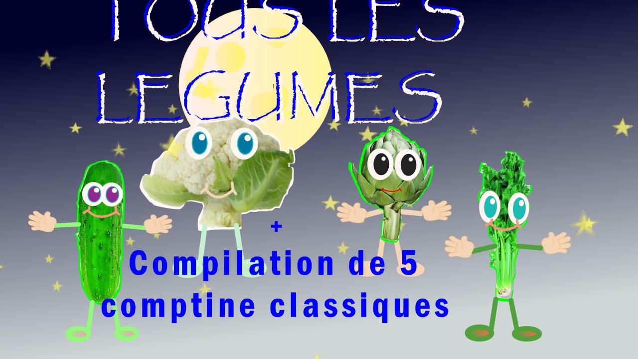 tous les legumes 5 comptines classiques pour enfants youtube. Black Bedroom Furniture Sets. Home Design Ideas