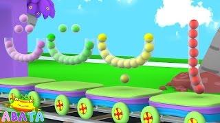 Öğrenme ve Çocuklar | ABATA kanal İçin Dolgu Tüpleri Renk ile Alfabe Hijaiyah Elif Ba Ta Unutma