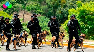 Graduación de oficiales de la Policía como guías caninos para fortalecer la seguridad ciudadana