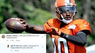 RG3 DESTROYS the Browns AND Their Fans in One Instagram Comment