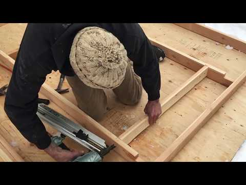 TIMBER FRAME BUILD -- wall framing for closing in a timber frame