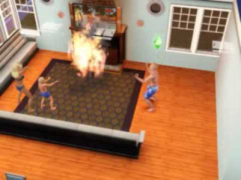 Sims 3 Fireplace Fire - YouTube