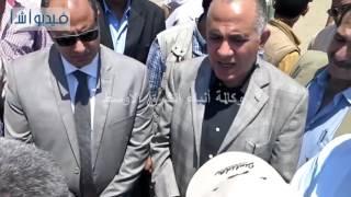 يالفيديو :وزير الري ومحافظ البحيرة يتفقدان مجرور إدكو بعد تطويرة