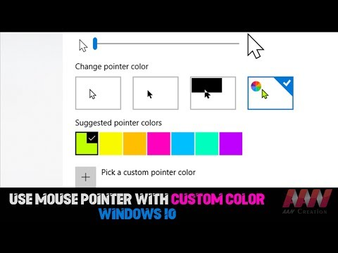 How to Use Mouse Pointer with Custom Color on Windows 10