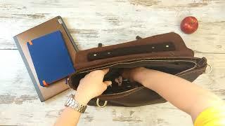 Видео обзор мужского кожаного портфеля 7082R-1