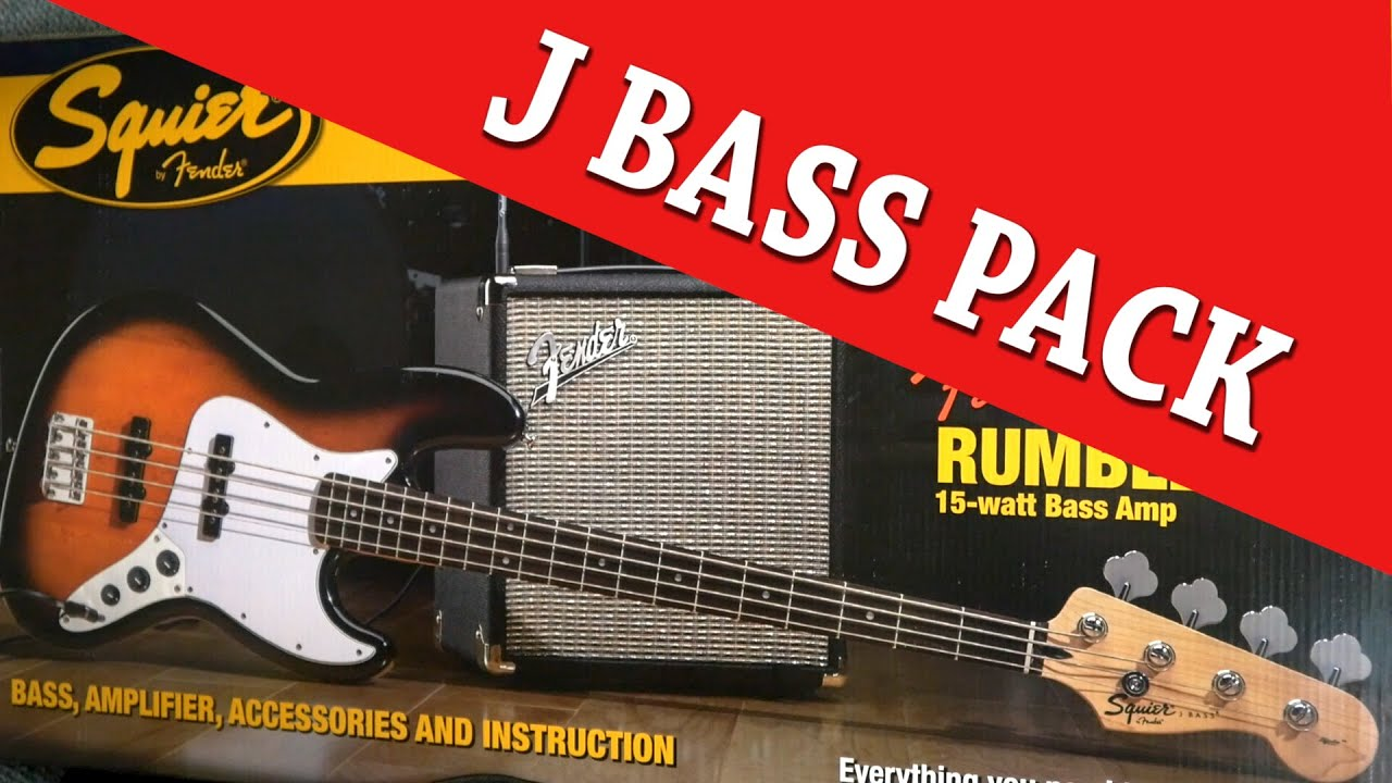 squier affinity j bass pack unboxing with cranbourne music youtube. Black Bedroom Furniture Sets. Home Design Ideas
