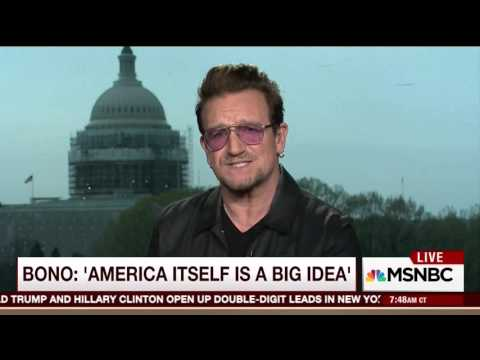 Bono notes struggling U.S. economy: 'The American taxpayer is really hurting at the moment'