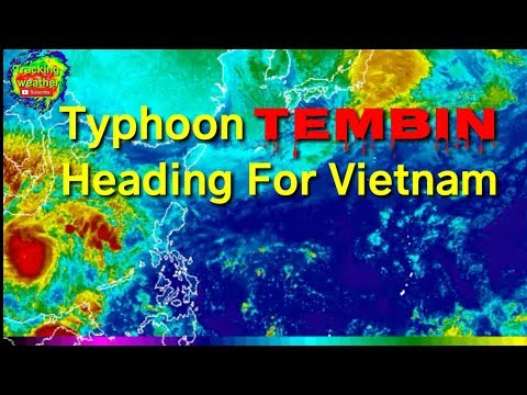Typhoon Tembin heading for Southern Vietnam, Christmas Eve December 24, 2017