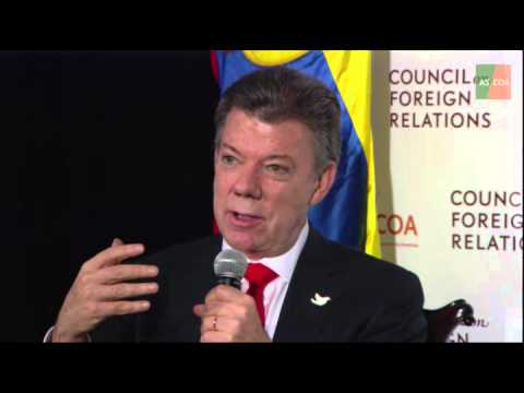 Colombian President Santos on the Peace Process, Social Policies, and Economic Growth