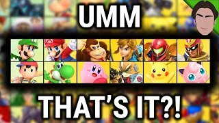 This is Your Starting Roster... Super Smash Bros Ultimate