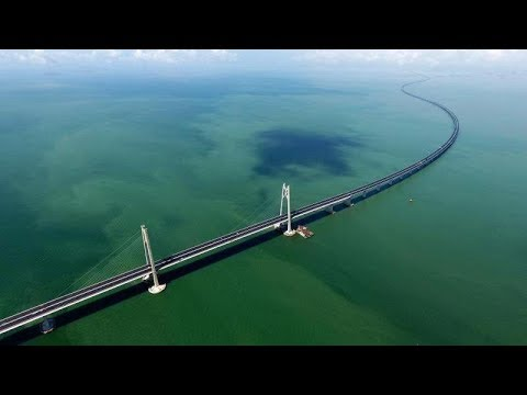 LIVE: Mega project! World's longest sea bridge opens to traffic