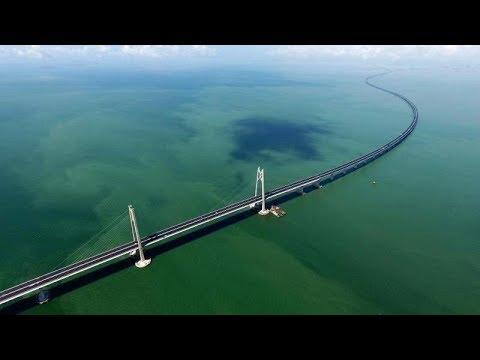 LIVE: Mega project! World's longest sea bridge opens to traffic