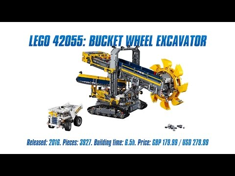 'LEGO Technic 42055: Bucket Wheel Excavator' Unboxing, Parts