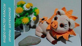 Хрюшка в соняшниках, 2 ч.. Piggy in sunflowers, р. 2. Amigurumi. Іграшки гачком.