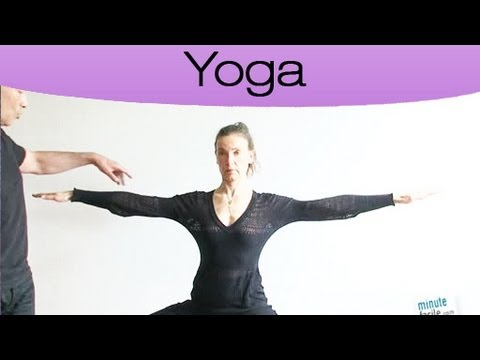 comment faire la posture du guerrier en yoga youtube. Black Bedroom Furniture Sets. Home Design Ideas