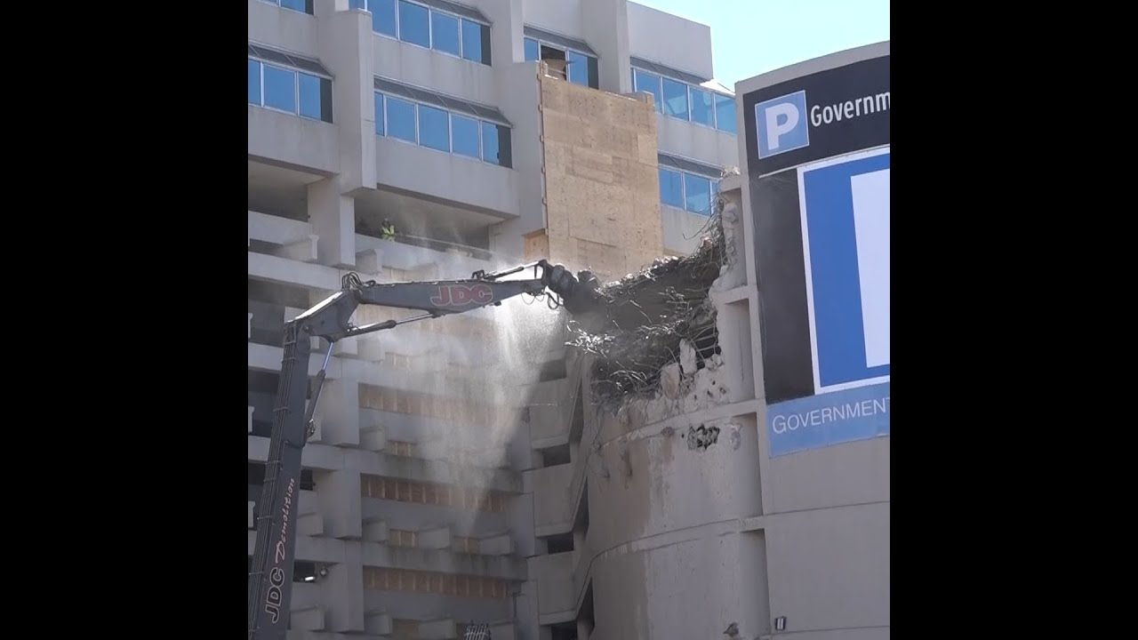 Work Begins To Tear Down Part Of Government Center Garage
