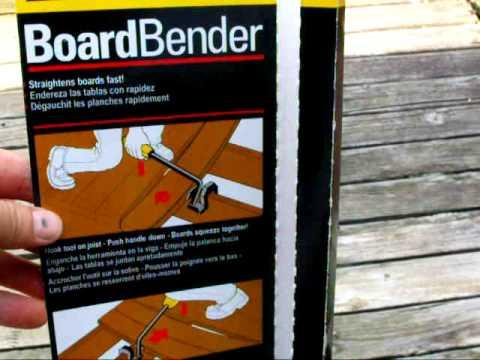 Part 1 Stanley Board Bender Straighten installing Deck Board  unboxing