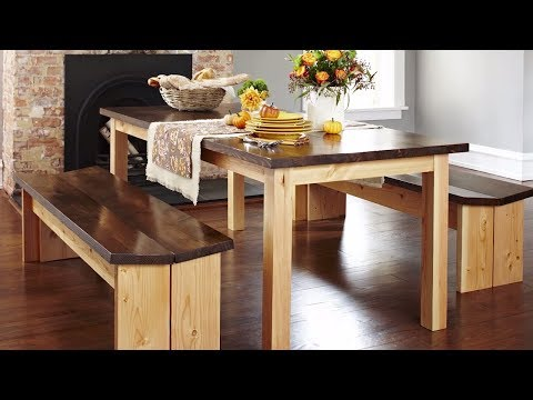 How to Build a DIY Dining Table & Benches