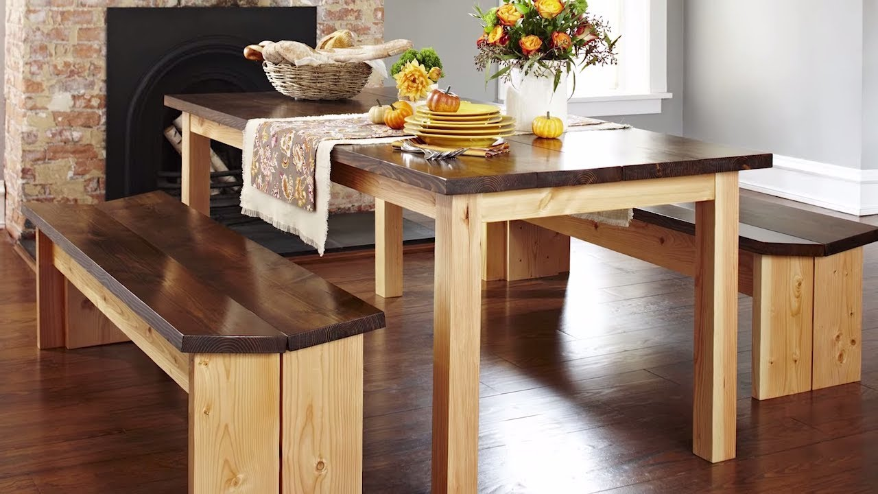 Build Kitchen Table Red Cabinets How To A Diy Dining Benches Youtube