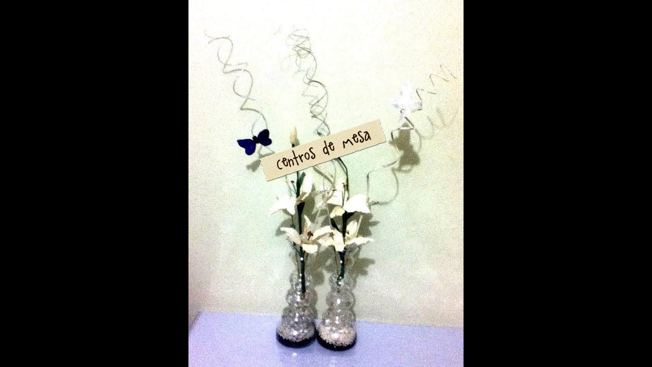 Centro de mesa flores artificiales fiestas bolitas de gel - Centro de mesa con flores artificiales ...