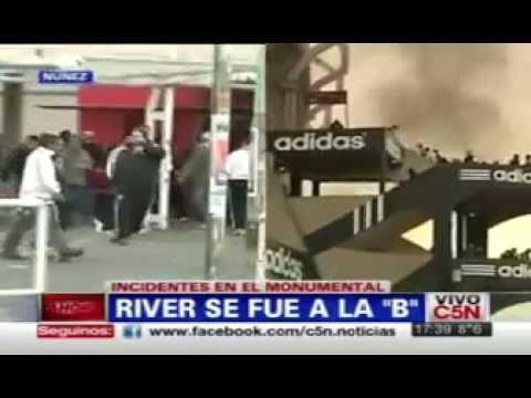 River se va a la b incidentes c5n 3 3 youtube for La b b