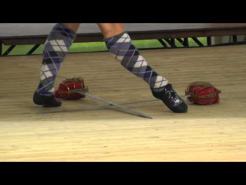 Rebecca Thow (n°698 - world Adult runner-up) sword dance on Saturday at Cowal 2014