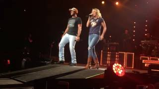 luke bryan carrie underwood duet play it again live in nashville 2017