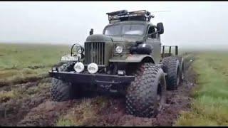 Гордость советского автопрома!!! Русские грузовики на бездорожье!!!