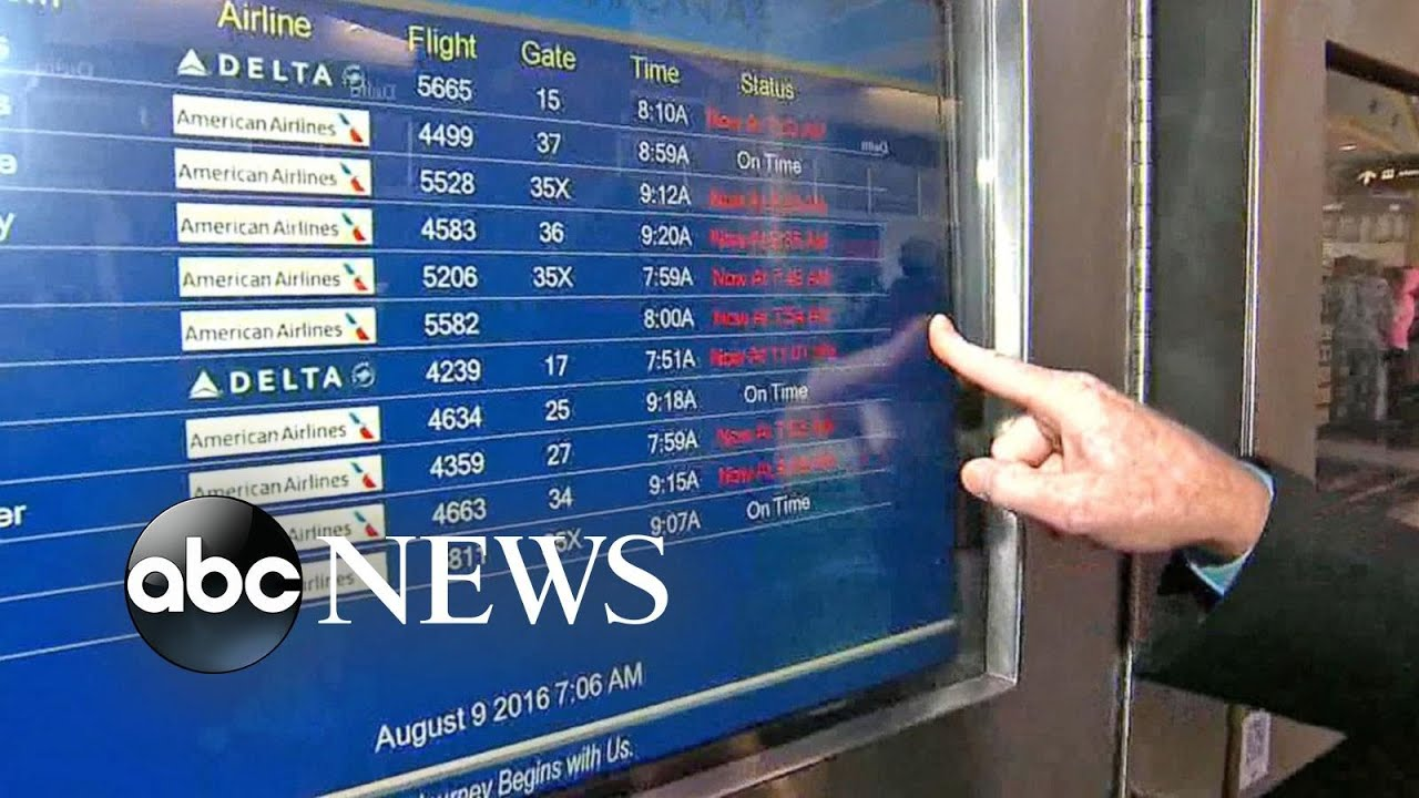 Delta Flight Delays Continue After Computer Outage - YouTube