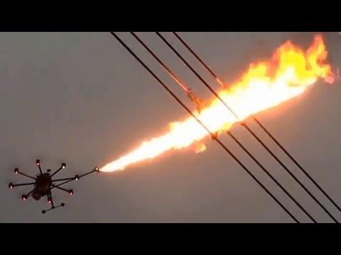 Dron Flammenwerfer