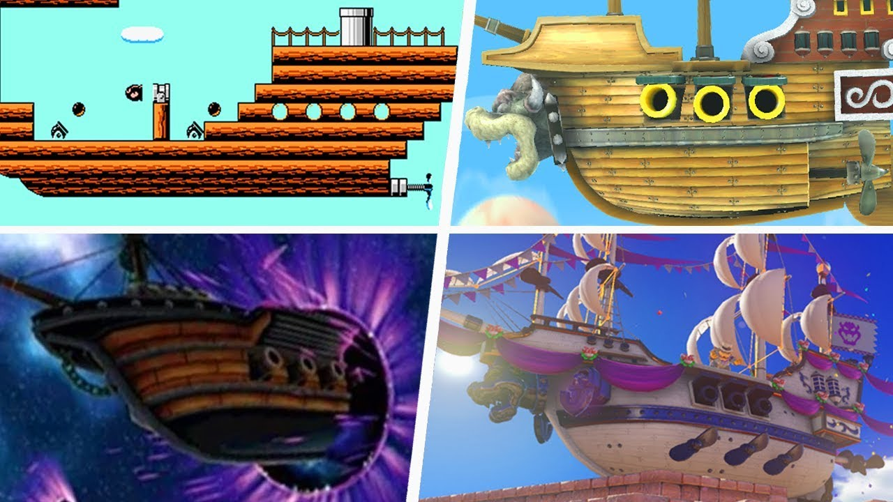 Evolution Of Airships In Super Mario Games 1988 2019 Youtube