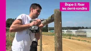 Pose de barrière bois et clôture bois pour chevaux - Vidéo Horse Stop