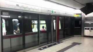 港鐵列車 a366 a365 離開九龍塘站