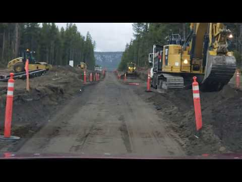 Yellowstone Road Construction May 2019 Fishing Bridge Area East Entrance/Exit