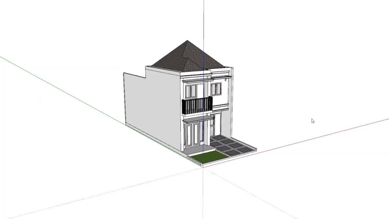 Bài tập 85: Nhà 2 tầng phong cách tối giản 6x12m