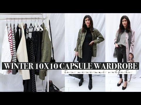 Winter 10X10 Capsule Wardrobe Challenge (2018) - 10 Minimal Outfits | Mademoiselle