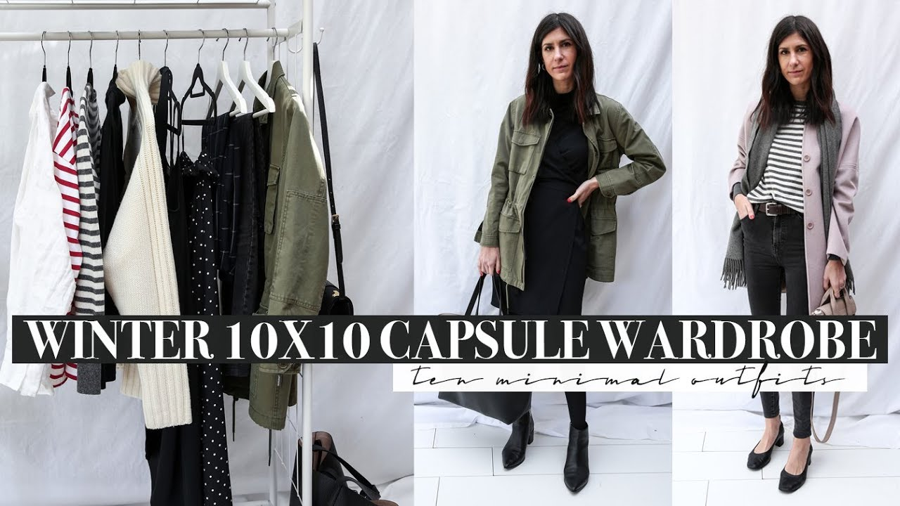 [VIDEO] - Winter 10X10 Capsule Wardrobe Challenge (2018) - 10 Minimal Outfits | Mademoiselle 6