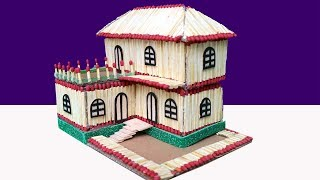 How to make a Match House at Home - Match stick House Not Fire