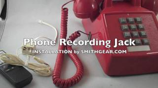 Telephone Recording Jack Adapter Attachment Installation to Record Phone Calls