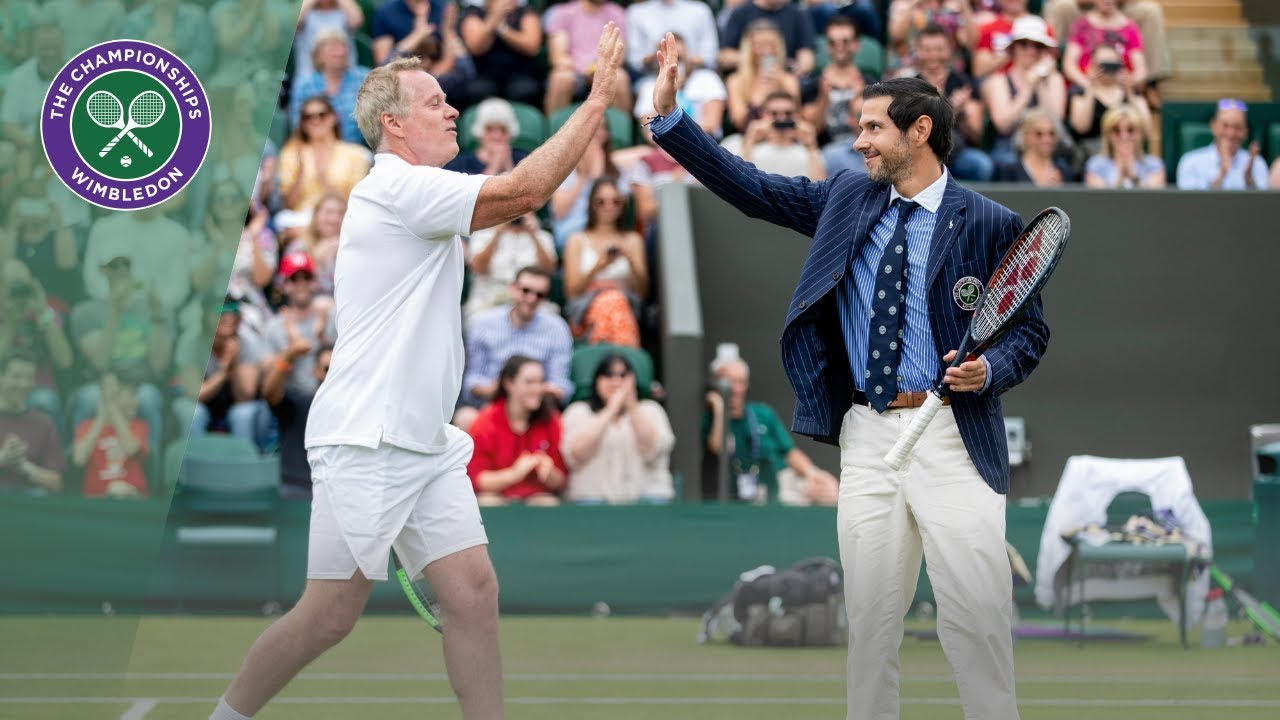Download Umpire steals the show during Invitation Doubles | Wimbledon 2019