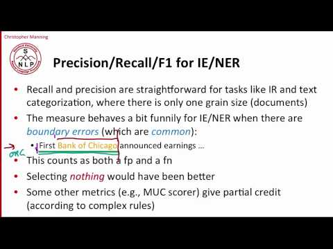 9 - 2 - Evaluation of Named Entity Recognition .mp4