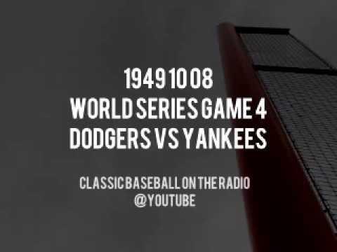 1949 10 08  World Series Game 4 Dodgers vs Yankees Vintage Radio Baseball