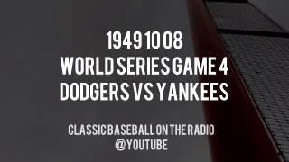 1949 10 08  World Series Game 4 Dodgers vs Yankees Vintage Radio (Red Barber + Mel Allen)