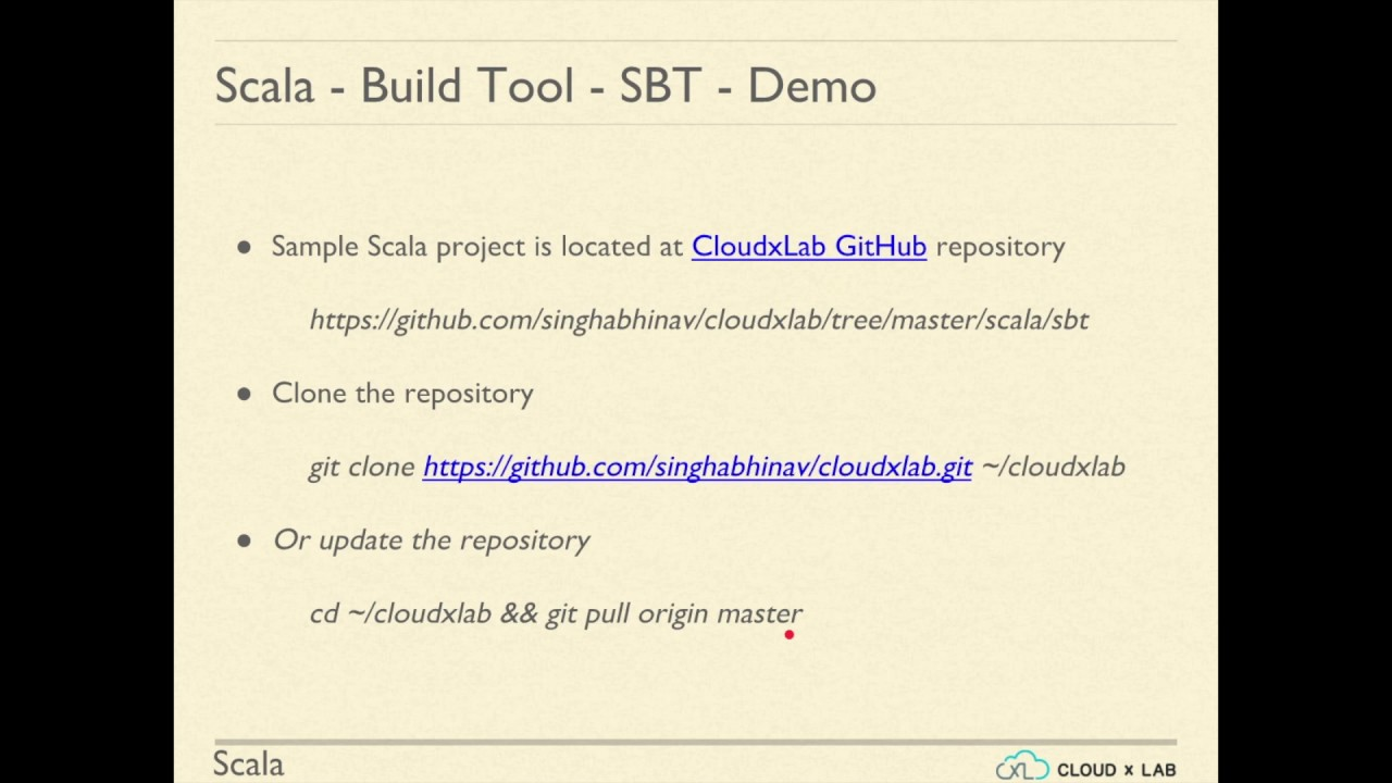 Scala - Build Tool - SBT | Automated hands-on| CloudxLab