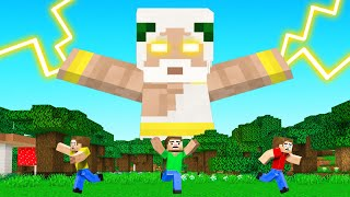 Playing As GOD In MINECRAFT! (mega power)