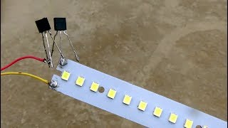 Make automatic on off LED emergency light with out relay for power cut